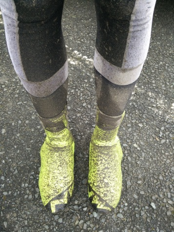 Very much an overshoes and leg warmers day