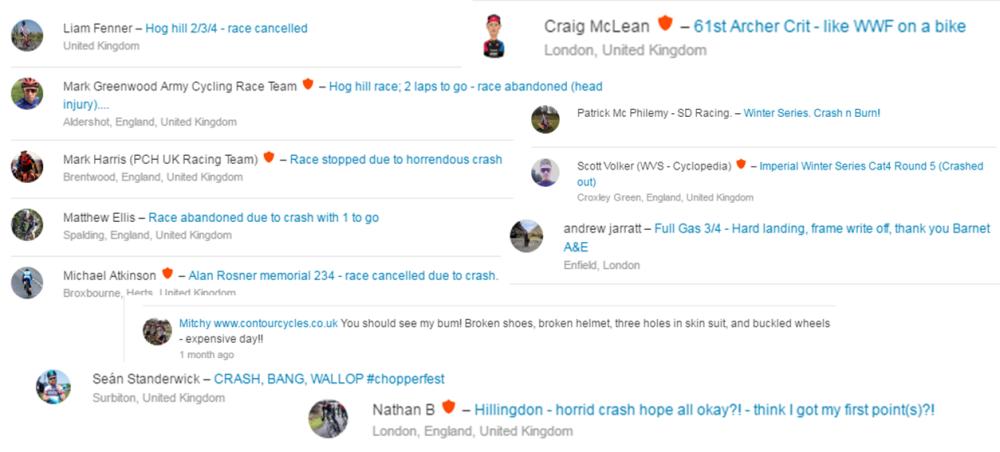 strava crash